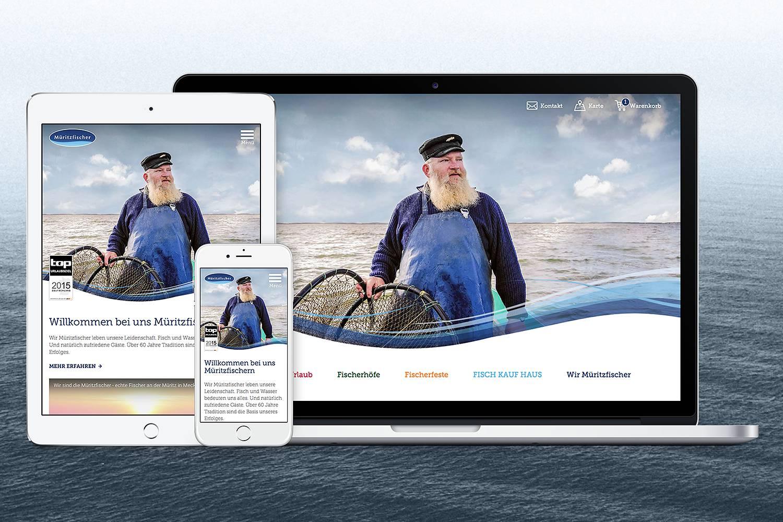 13° Crossmedia Agentur - Müritzfischer Website