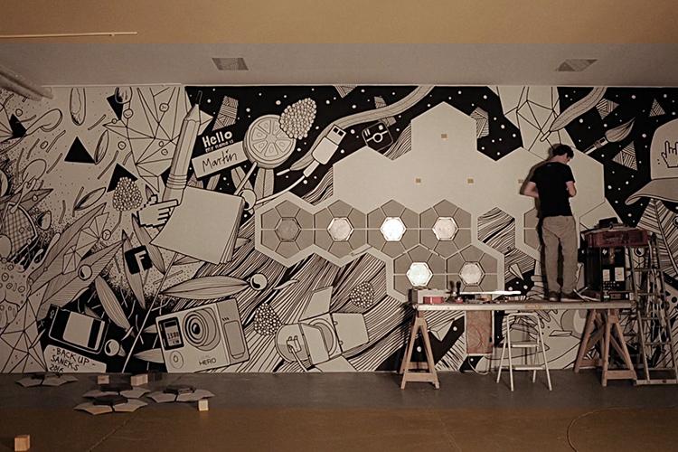 13° Crossmedia Agentur - Medienwand